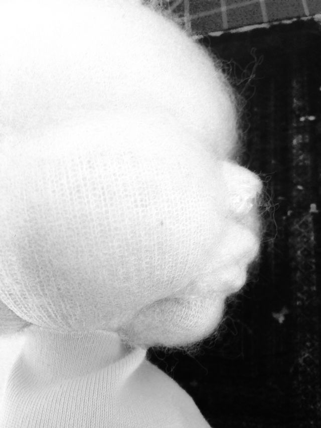 Louiebebe woolfelt doll head